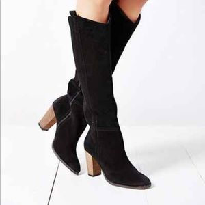 Dolce Vita tall black boots with block heel